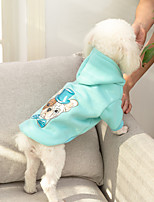 cheap -Dog Coat Hoodie Character Casual / Daily Cute Casual / Daily Winter Dog Clothes Warm Yellow Blue Pink Costume Cotton S M L XL XXL
