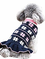 cheap -dog sweater dress turtleneck dog sweater with leash hole knit pullover warm for winter