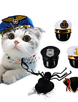 cheap -Dog Cat Halloween Costumes Bandanas & Hats Police / Military Sailor Cute Cool Christmas Party Dog Clothes Breathable 1 2 3 Costume Polyster