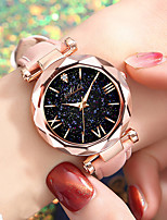cheap -Women's Quartz Watches Quartz Modern Style Stylish New Arrival Cute Analog Black Red Blushing Pink / PU Leather