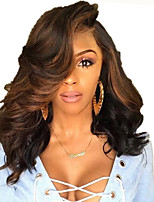 cheap -Synthetic Wig Body Wave Loose Curl Asymmetrical Wig Short Dark Brown Synthetic Hair 18 inch Women's Fashionable Design Easy to Carry Fluffy Dark Brown