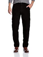 cheap -men's cotton loose fit cargo pant khaki 30w x 32l