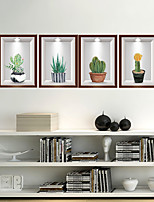 cheap -WallDecals Decor Vinyl DIY Cactus Wall Stickers Removable Waterproof Wallpaper Decals Art Easy Peel & Stick for Kids Room Living Room Bedroom