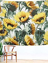 cheap -sunflower tapestry, forever wall hanging warm golden yellow and green wall and home decor 79x59 inches (large)