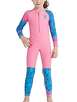 cheap -girls sun suit long sleeve uv sun protection swimsuit one piece stretch full coverage wetsuit swimwear