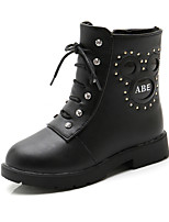 cheap -Girls' Boots Snow Boots PU Little Kids(4-7ys) / Big Kids(7years +) Walking Shoes Black / Red / Burgundy Fall / Winter / Mid-Calf Boots