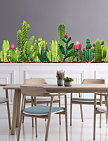 cheap -WallDecals Decor Vinyl DIY Green Cactus  Wall Stickers Removable Waterproof Wallpaper Decals Art Easy Peel & Stick for Kids Room Living Room BedroomStick for Kids Room Living Room Bedroom