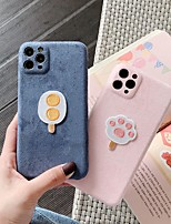 cheap -Case For iPhone 11 Pattern Back Cover Food Solid Colored Textile Case For iPhone 11 Pro Max / SE2020 / XS Max / XR XS 7 / 8 7 / 8 plus