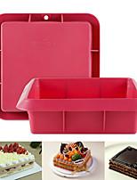 cheap -Silicone Cake Mold Square Shape Non-stick Baking Tray 1Pc