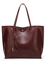 cheap -Women's Bags PU Leather Top Handle Bag Zipper for Daily / Date Wine / Black / Blue / Red