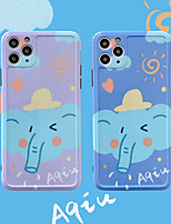 cheap -Cartoon Elephant Pattern IMD Case For Apple iPhone 11 Pro Max 8 Plus 7 Plus 6 Plus Max Back Cover