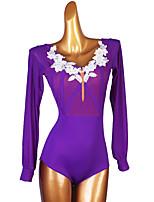 cheap -Ballroom Dance Leotard / Onesie Appliques Women's Performance Long Sleeve Spandex