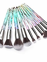 cheap -10pcs makeup brushes crystal handle makeup brush set premium rainbow color, professional kabuki cosmetic brush for powder foundation concealer blush eye shadow eyebrow makeup kit - a