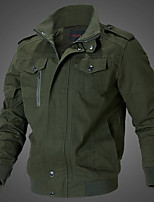 cheap -Men's Hiking Jacket Winter Outdoor Thermal Warm Windproof Breathable Soft Jacket Top Cotton Outdoor Black / Army Green / Khaki