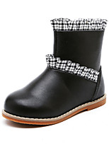 cheap -Girls' Boots Combat Boots PU Little Kids(4-7ys) Walking Shoes Black / Red Fall / Winter / Booties / Ankle Boots