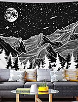 cheap -moon and star tapestry mountain tapestry forest tree tapestries starry night sky tapestry black and white tapestry for room& #40;51.2 x 59.1 inches& #41;