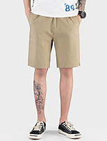cheap -Men's Basic Daily Shorts Pants Solid Colored Outdoor Black Blue Khaki 28 29 30
