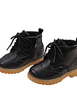 cheap -Boys' / Girls' Boots Combat Boots PU Little Kids(4-7ys) / Big Kids(7years +) Walking Shoes Black / Brown Fall / Winter / Booties / Ankle Boots