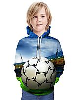 cheap -Kids Boys' Active Basic Color Block 3D Graphic Print Long Sleeve Hoodie & Sweatshirt Blue