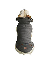 cheap -Dog Coat Vest Solid Colored Casual / Sporty Fashion Casual / Daily Winter Dog Clothes Breathable Black Gray Costume Cotton S M L XL XXL