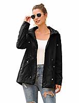 cheap -women rain jacket waterproof lightweight hooded raincoat girls outdoor active long windbreaker black l