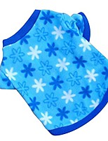 cheap -pet puppy shirt clothes polar fleece snowflake printed vest t shirt for small dog pet blue