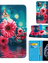 cheap -Case For iPhone 6 6plus 7 7P iPhone 8 8P iPhone X iPhone XS XR XS max iPhone 11 11 Pro 11 Pro Max iPhoneSE (2020) Wallet Card Holder Shockproof Full Body Cases Animal PU Leather TPU flower