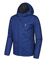 cheap -men's lightweight windbreaker, softshell jacket with hood for running travel hiking dark blue size m