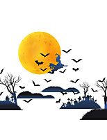 cheap -3PCS 32*31CM Halloween Bat Stickers  Creative Home Foreign Trade Decoration Witches Background Wall Stickers