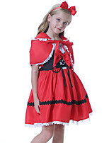 cheap -Little Red Riding Hood Dress Cosplay Costume Party Costume Kid's Girls' Cosplay Halloween Halloween Festival / Holiday Polyester Red Easy Carnival Costumes / Shawl / Headwear / Shawl / Headwear