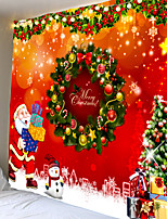 cheap -Christmas Santa Claus Holiday Party Wall Tapestry Art Decor Blanket Curtain Picnic Tablecloth Hanging Home Bedroom Living Room Dorm Decoration Snowman Gift Polyester