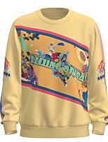 cheap -Women's Men's Pullover Sweatshirt Graphic Chinese Style Portrait Oversized Daily Weekend 3D Print Casual Streetwear Hoodies Sweatshirts  Yellow