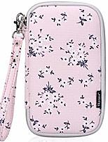 cheap -passport holder document organizer bag, travel wallet with credit card holder, floral pink