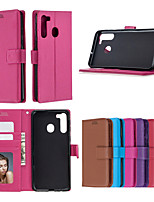 cheap -Case For Samsung Galaxy NOTE 9 S9 S9 PLUS A6 A6 PLUS A6S A7 A8 J4 J4 PLUS J6 J6 PLUS J8 S20 S20PLUS S20ULTRA Xcover pro NOTE20 Card Holder Shockproof  Flip Full Body Cases Solid Colored PU Leather TPU