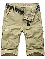 cheap -men's outdoor expandable waist lightweight quick dry shorts for hiking camping khaki 34