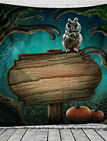 cheap -Halloween Wall Tapestry Art Decor Blanket Curtain Picnic Tablecloth Hanging Home Bedroom Living Room Dorm Decoration Psychedelic Owl Haunted Scary Polyester
