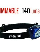 cheap -new dimmable led headlamp spark pro 140-lumen-brighter and simpler operating spotlight with separate floodlight/red night vision- excellent for camping, sports and home improvement (blue/black)