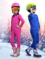 cheap -Boys' Girls' Ski Base Layer Camping / Hiking Snowboarding Winter Sports Warm Polyester Warm Top Warm Pants Ski Wear