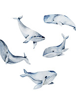 cheap -New Cartoon Stickers Whale Self Adhesive Wall Stickers Creative Children's Room Wall Decoration