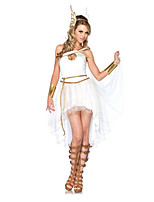 cheap -Goddess Retro Vintage Ancient Greek Vacation Dress Dress Outfits Masquerade Women's Costume White Vintage Cosplay Party Halloween Sleeveless / Headwear / Wrist Brace / Headwear / Wrist Brace
