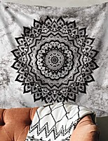 cheap -Wall Tapestry Art Decor Blanket Curtain Picnic Tablecloth Hanging Home Bedroom Living Room Dorm Decoration Polyester Tie Dye Black Mandala View