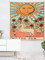cheap -Tarot Divination Wall Tapestry Art Decor Blanket Curtain Picnic Tablecloth Hanging Home Bedroom Living Room Dorm Decoration Mysterious Bohemian Sun Horse
