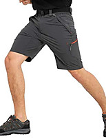 cheap -men's stretch hiking shorts quick dry nylon cargo shorts with zipper pockets, water resistant, graphite grey, 40