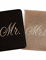 cheap -passport wallets travel holder set: mr. & mrs. slim waterproof passport case covers & organizer slots for id, money & credit card - black & rose gold