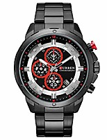 cheap -mens watches, quartz analog calendar,wrist watch for men, fashion waterproof stainless steel band-black