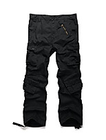 cheap -men's cotton casual military army cargo camo combat work pants with 8 pocket black 32