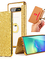 cheap -Case For Samsung Galaxy S8 S8 Plus S9 S9 Plus Note 8 Note 9 S10 S10 Lite S10 Plus Note 10 S20 S20 Plus Card Holder Ring Holder Full Body Cases Solid Colored Glitter Shine TPU