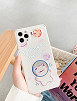 cheap -Case For iPhone 11 Pattern Back Cover Word Phrase Animal Cartoon TPU Case For iPhone 11 Pro Max / SE2020 / XS Max / XR XS 7 / 8 7 / 8 plus