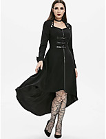 cheap -Goth Girl Gothic Goth Subculture Dress Party Costume Masquerade Women's Costume Black / Red Vintage Cosplay Club Bar Long Sleeve