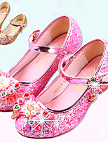 cheap -Girls' Heels Moccasin / Flower Girl Shoes / Children's Day Rubber / PU Little Kids(4-7ys) / Big Kids(7years +) Walking Shoes Rhinestone / Buckle / Sequin Pink / Gold / Dark Blue Spring / Fall